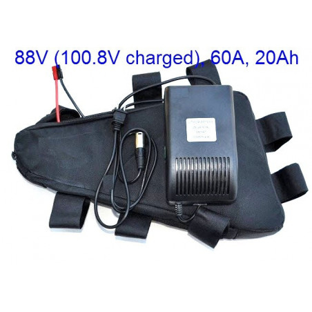 Triangle High Power Battery Pack 88V (100.8V fully charged) 1760Wh, 20Ah 60A Discharge