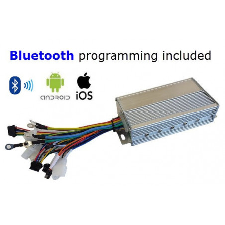 12F 4kW eBike Sinewave/Silent Controller - Android-iOS-Bluetooth Programmable 4kW