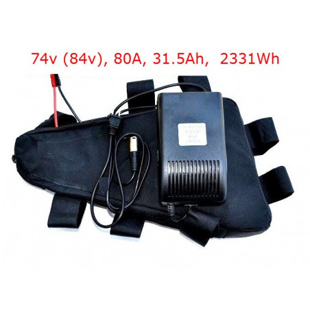 High Power Battery Pack 74V (84V fully charged) 31.5 Ah 80A